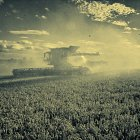 New Holland CR harvesting wheat