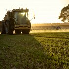 Challenger RoGator spraying winter wheat